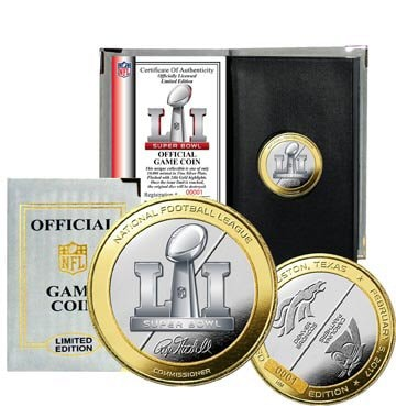 Super Bowl 51 Two Tone Flip Coin Limited Edition