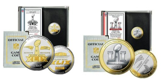 Super Bowl Two Tone Flip Coins